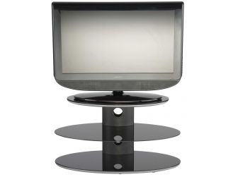 Black Glass Floating Oval Tv Stand GRA3-800-T-B