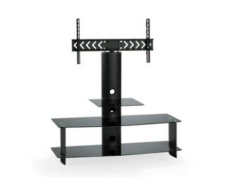 Black Glass Cantilever Tv Stand FAV-63B