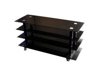 4 Shelf Black Glass Tv Stand FAVS-15B