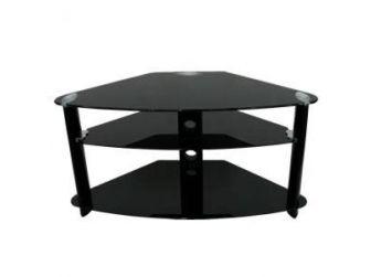 Corner Black Glass Tv Stand LA-MESA-5004