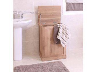 Oak Wood Laundry Basket COR18A