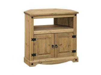 Corner Tv Cabinet - Tv Unit In Pine CRTV911