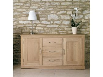 Oak Large Sideboard With 3 Drawers COR02A