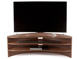 Tom Schneider Curvature 1250 Natural Walnut Hand Made TV Stand