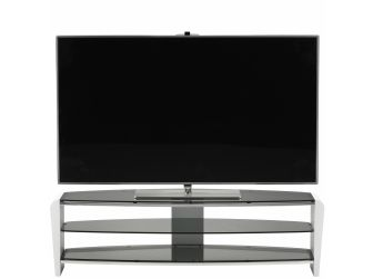 Francium White With Smoked Glass 1400 TV Stand