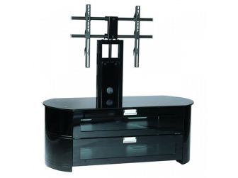 Cantilever Black Curved Tv Cabinet OPA1200-GB-B