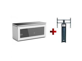White Cantilever Tv Cabinet REF1100-GW-B