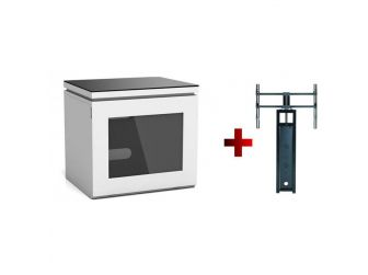 White Cantilever Tv Cabinet REF550-GW-B