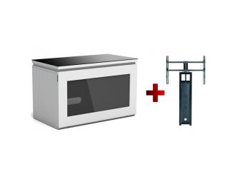 White Cantilever Tv Cabinet REF800-GW-B