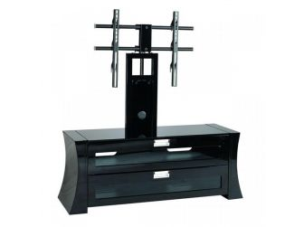 Concave Sided Black Cantilever Tv Stand SAP1200-GB-B