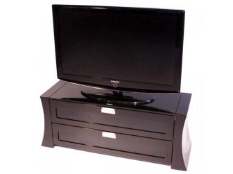 Concave Sided Black Tv Cabinet SAP1200-GB