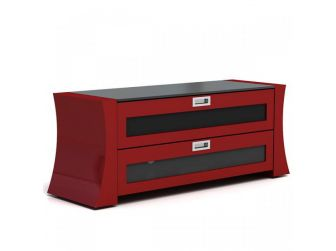 Concave Sided Red Tv Cabinet SAP1200-GR