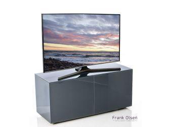 Frank Olsen Intelligent Design Furniture TV Cabinet - Grey Gloss with Grey Glass Doors