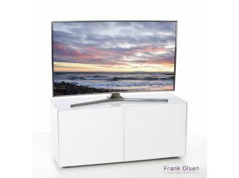 Frank Olsen Intelligent Design Furniture TV Cabinet - White Gloss with White Glass Doors