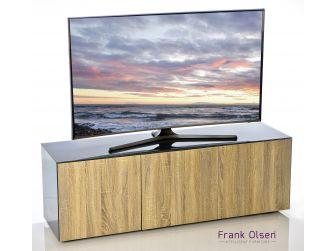 Frank Olsen Intelligent Design Furniture TV Cabinet - Grey Gloss with Oak Effect Doors