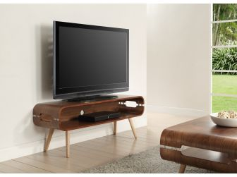 Walnut TV Stand with Solid Ash Spindle Legs JF702