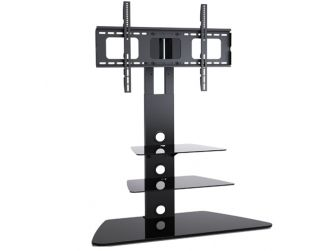 Black Glass Cantilever Tv Stand AB-K111T
