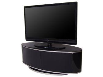 Gloss Black Oval Swivel TV Cabinet Luna AV