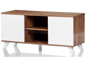 UKCF NEW Seville Oak & White TV Stand