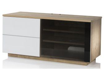UKCF NEW Paris Oak & White TV Cabinet