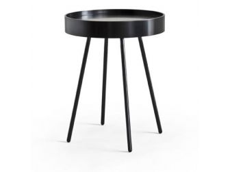 Black Round Lamp Table LMP-BEAT-B