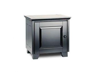 Tv / Hifi Cabinet Black Wood Cabinet HAMPTON-217