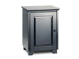 Tv / Hifi Cabinet Black Wood Cabinet HAMPTON-317