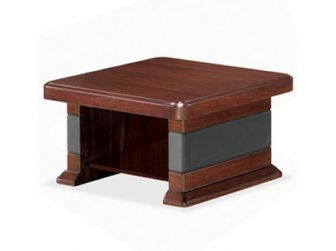 Square Coffee Table With Leather Detail NAX-COF-UQ9CD
