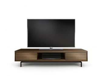 Low Viewing Natural Walnut TV Cabinet - SIGNAL-8323-NW