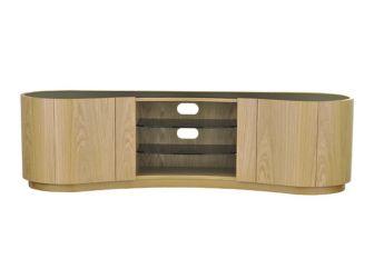 Tom Schneider Swirl Deluxe 1800 Oak TV Stand