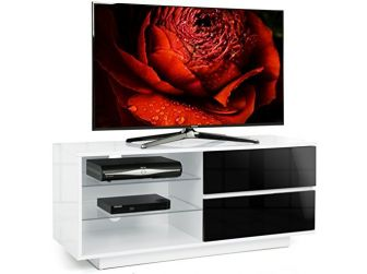 Gloss White and Black  TV Cabinet Gallus
