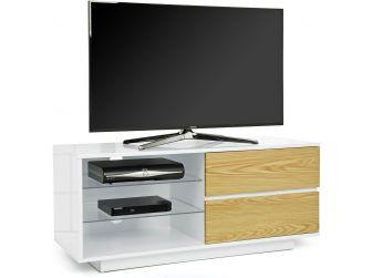 Gloss White and Oak TV Cabinet Gallus