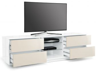 Gloss White and Ivory Large TV Cabinet Avitus