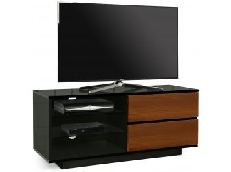 Gloss Black and Walnut TV Cabinet Gallus