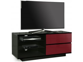 Gloss Black and Midnight Red TV Cabinet Gallus