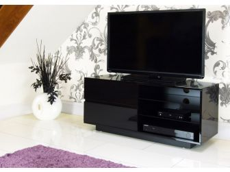 Gloss Black TV Cabinet Gallus