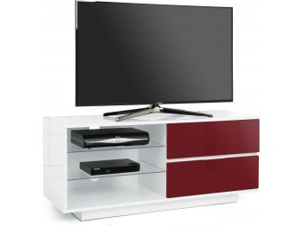 Gloss White and Midnight Red TV Cabinet Gallus