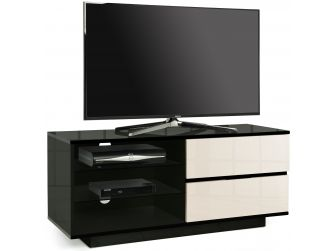 Gloss Black and Ivory TV Cabinet Gallus