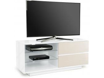 Gloss White and Ivory TV Cabinet Gallus