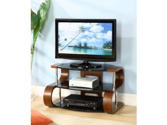 JF203 850 Curved Wood TV Stand Walnut