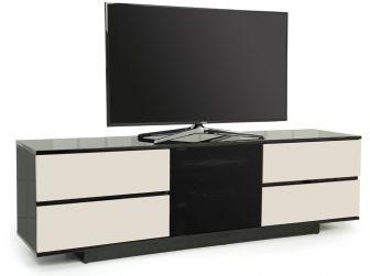 Gloss Black and Ivory TV Cabinet Avitus