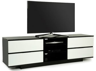 Gloss Black and White TV Cabinet Avitus
