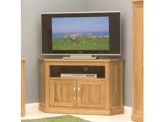 Oak Corner Enclosed Tv Cabinet COR09C