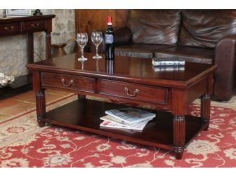 Mahogany Coffee Tables With Drawers IMR08A