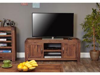 Walnut Wide Tv Cabinet CDR09B