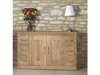 Oak 6 Drawer Large Sideboard COR02B