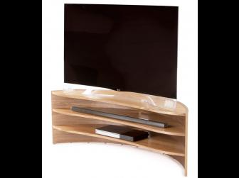 Tom Schneider Curvature 1250 Natural Oak Hand Made TV Stand