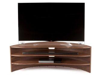 Tom Schneider Curvature 1500 Natural Walnut Hand Made TV Stand