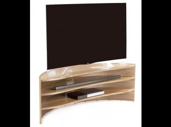 Tom Schneider Curvature 1500 Natural Oak Hand Made TV Stand