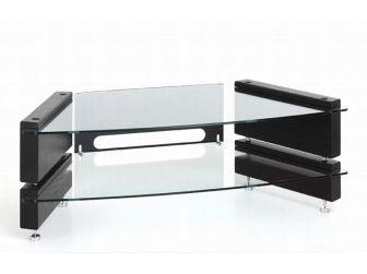 Low 2 Shelf Corner Tv Stand MILAN-LCD-CNR-2